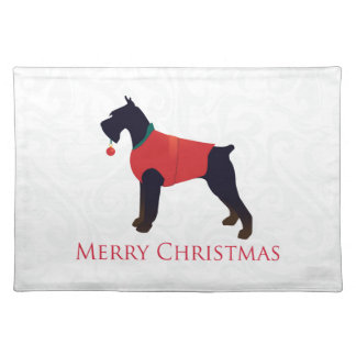 Giant Schnauzer Merry Christmas Design Placemat