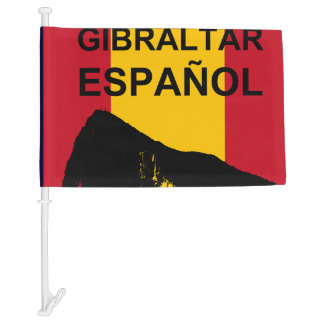 Gibraltar Español Car Flag