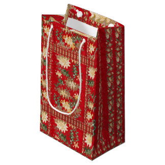 Gift Bag Goodluck  Colorful Chinese Oriental Red