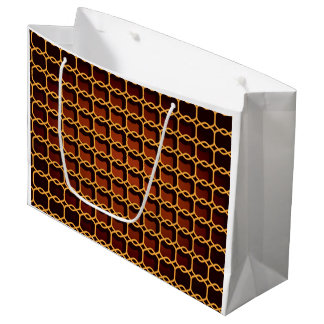 Gift Bag - Large Linked Honeycomb Graphic