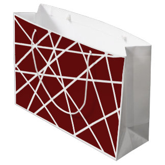 Gift Bag - Large WHITE ABSTRACT LINES
