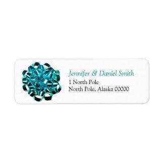 Gift Bow Christmas Card Self Adhesive Label Return Address Label