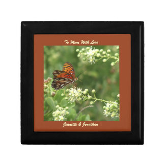 Gift Box, Jewelry Box, Mother's Day, Butterfly Small Square Gift Box