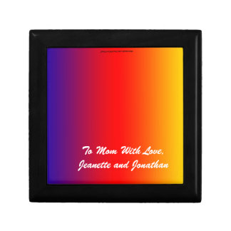 Gift Box, Jewelry Box, Mother's Day, Rainbow Small Square Gift Box