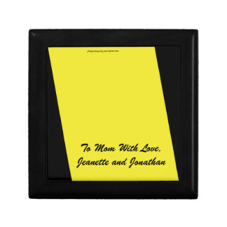 Gift Box, Jewelry Box, Mother's Day, Yellow Small Square Gift Box