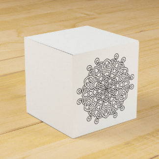Gift box with mandala art favour box