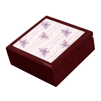 Gift box with tender butterfly background