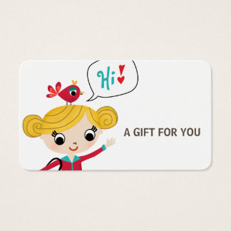 Gift Card, Certificate, D9-052115 Business Card