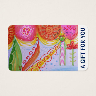 Gift Card, Gift Certificate, D4-052115 Business Card