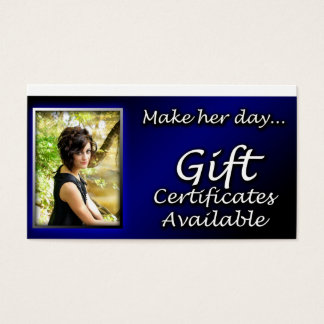 Gift cerrtificate reminder card