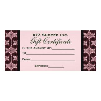 Gift Certificate Maroon Art Deco Customised Rack Card