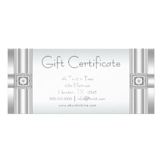 Gift Certificates Business Gift Certificates Customised Rack Card