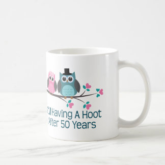 Gift For 50th Wedding Anniversary Hoot Basic White Mug