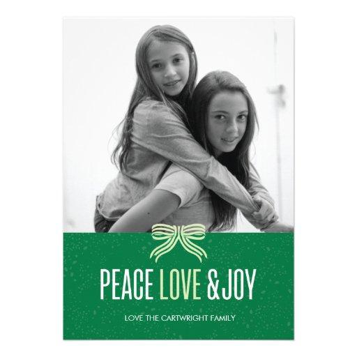 Gift Green Holiday Photo Card
