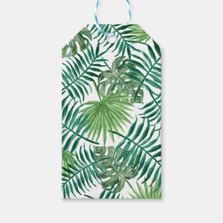 Gift Leaf, plant, palm, green, natural background Gift Tags