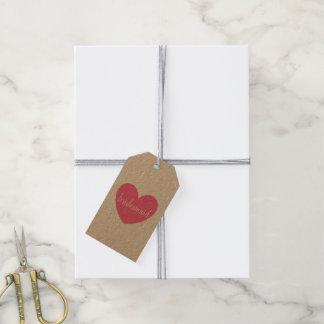 Gift Tag - Heart bridesmaid