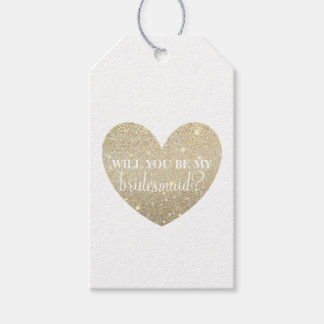 Gift Tag - Heart Fab bridesmaid-will you be my