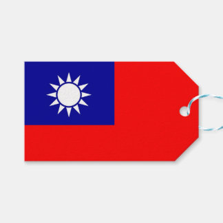 Gift Tag with Flag of Taiwan