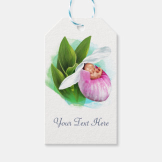Gift Tags ( 10 pack) Pink Lady Slipper