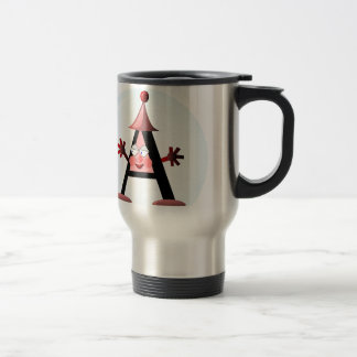Gift with Letter A initial Travel Mug