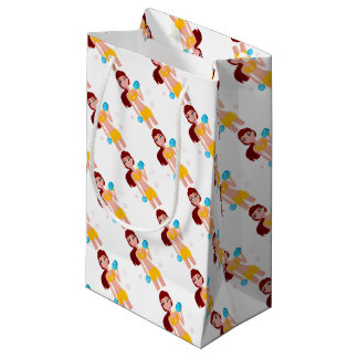Gift wrapping with Fit girl Small Gift Bag