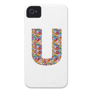 Gifts alphabet U UU name birthday girl boy kids iPhone 4 Case