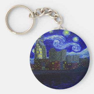 "Gifts: ""Nashville Starry Night"" by Jack Lepper Key Ring"