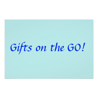 Gifts on the Go Poster