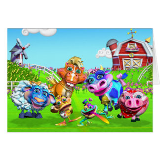 GiggleBellie Farm Animals Note Card