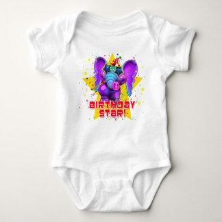 """GiggleBellies""  Birthday Star! Baby Bodysuit"