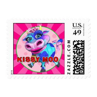 """GiggleBellies"" Kissy Moo the Cow Stamp"