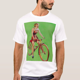 GIL ELVGREN Free Wheeling Pin Up Art T-Shirt