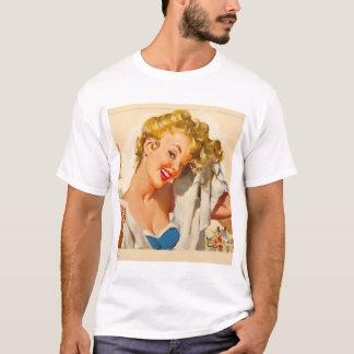 GIL ELVGREN Poolside Fun, 1950 Pin Up Art T-Shirt