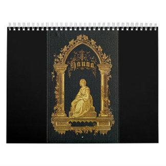 Gilded Book Cover Antique Jewish Prayer Book Hanna Calendar