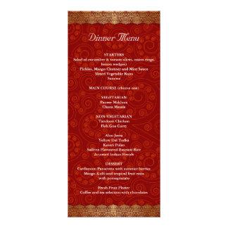 Gilded Edge Indian Frame Wedding Menu Rack Cards