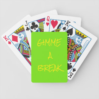 Gimme a Break Poker Playing Cards
