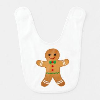 Ginger Bread Man Baby Bib