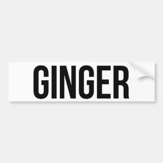 Ginger Bumper Sticker