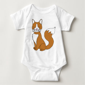 Ginger Cat Baby Bodysuit