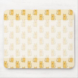 Ginger Cat Pattern. Mouse Pad