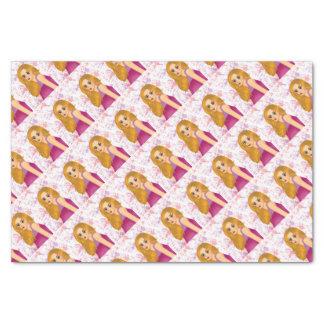 ginger hair girl tissue paper