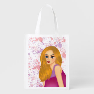 Ginger Hair Reusable Grocery Bag