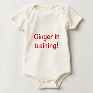 Ginger In Training! Baby Bodysuit