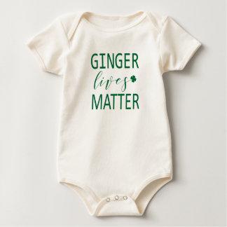 Ginger Lives Matter St Patricks Baby Bodysuit