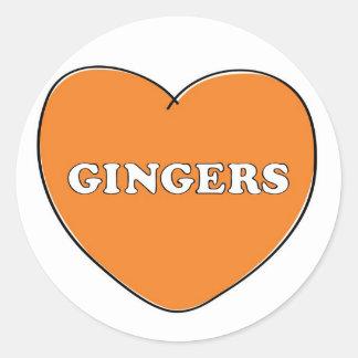 Ginger Love Classic Round Sticker