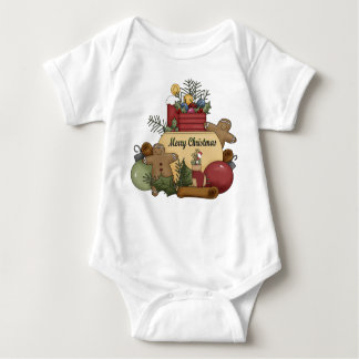 Ginger man Christmas Baby Bodysuit