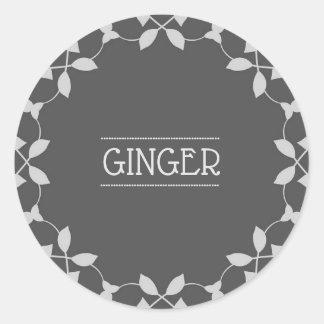 Ginger Spice Jar Sticker Labels
