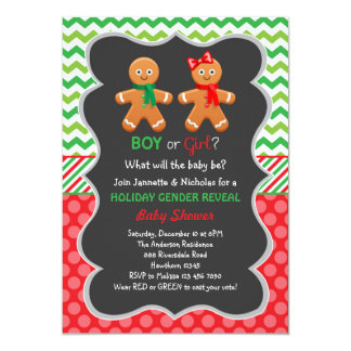 Gingerbread Gender Reveal Invitation