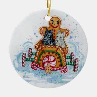 Gingerbread Gentlemen Scotties Christmas Ornament