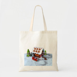 Gingerbread House Holiday Tote